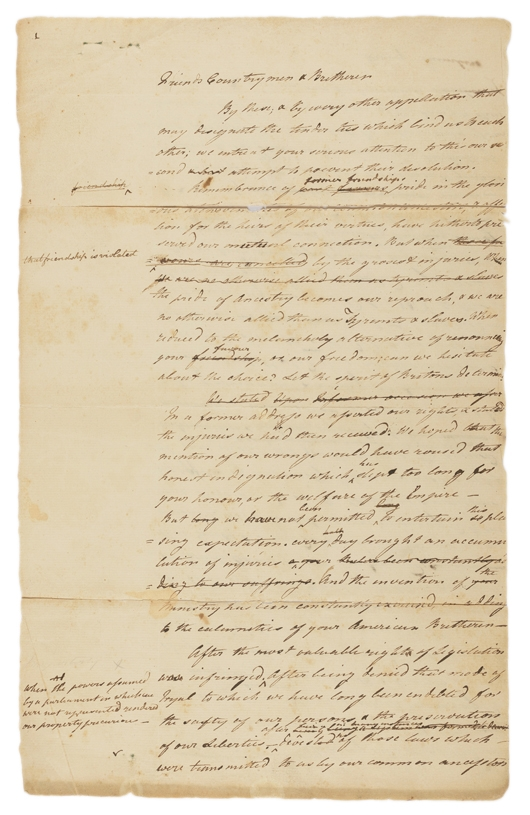 write a letter letter of the twelve united colonies to the inhabitants of 1746