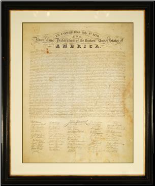 Declaration of Independence-Huntington Press