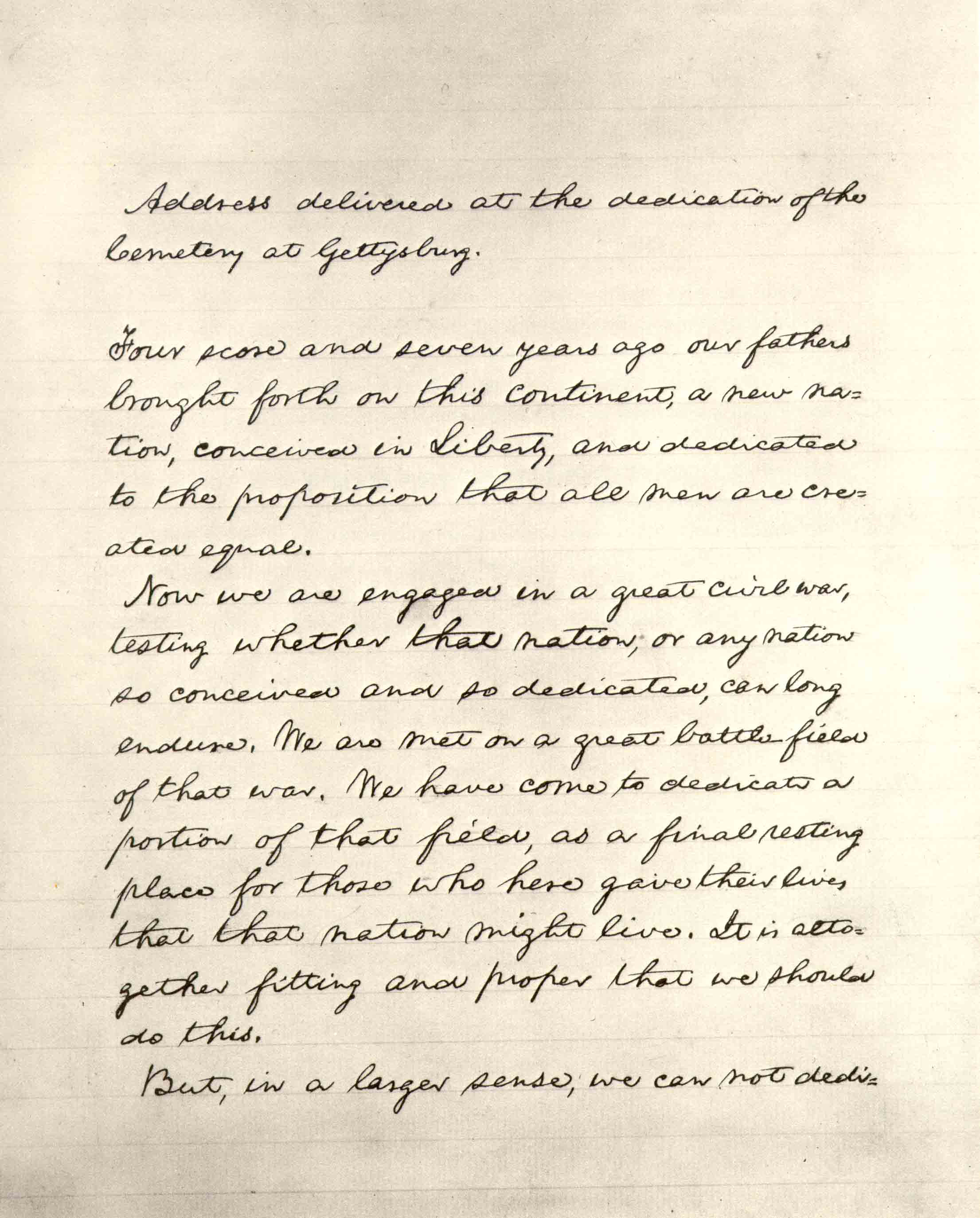Lincoln S Final Text Of The Gettysburg Address The Bliss