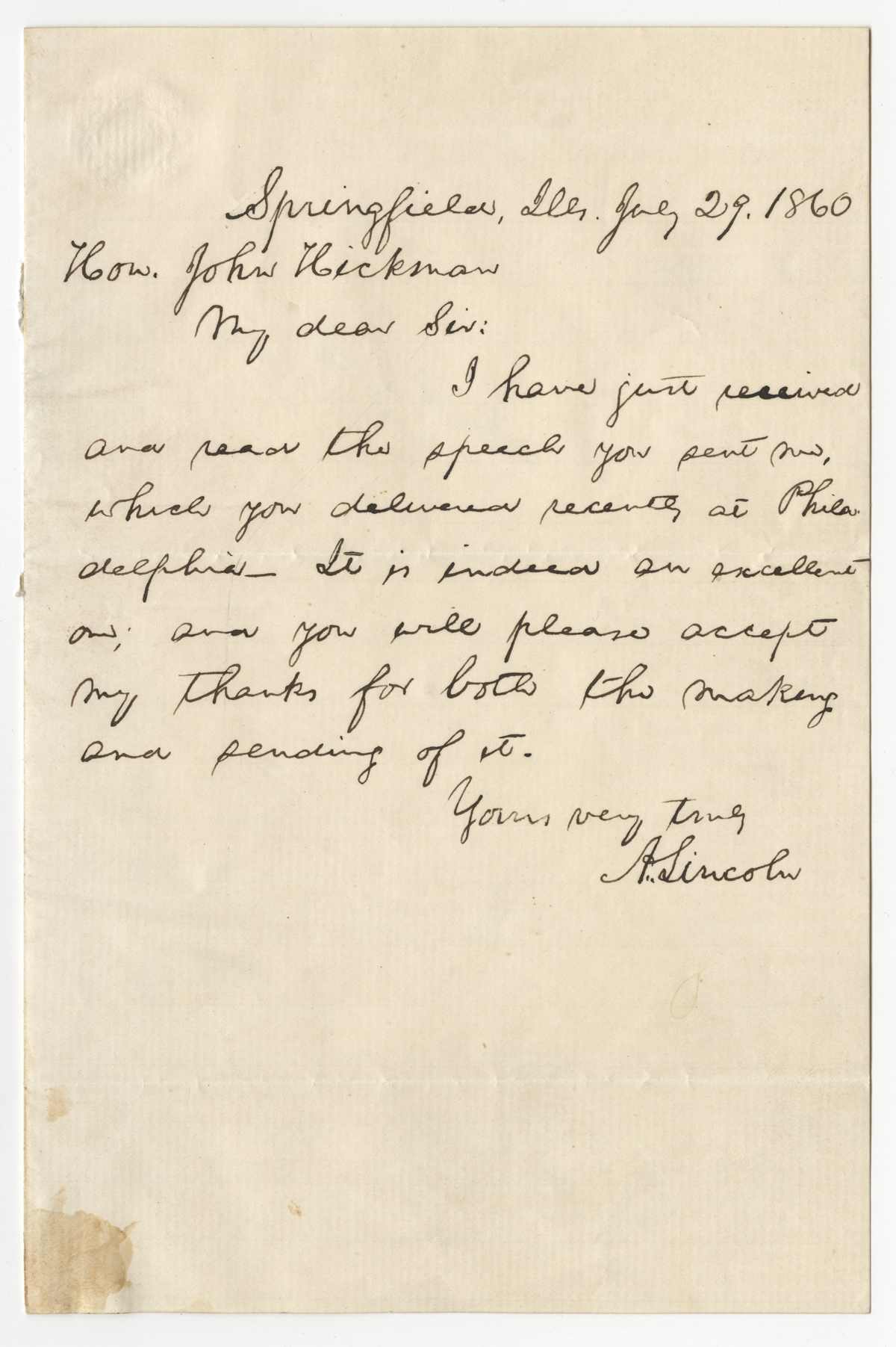 slavery speech Abraham lincoln, speech fragment on slavery and the american government, ca  1857–1858 (gilder lehrman collection) through the 1830s and 1840s,.