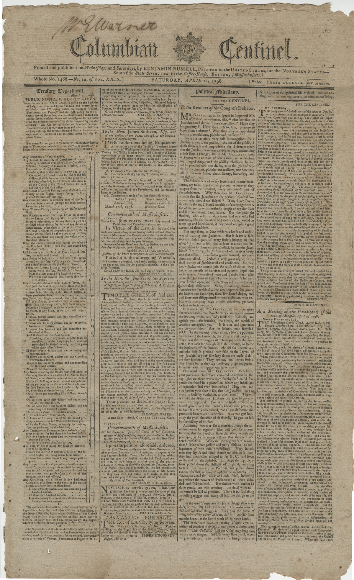 Reporting the Infamous XYZ Affair