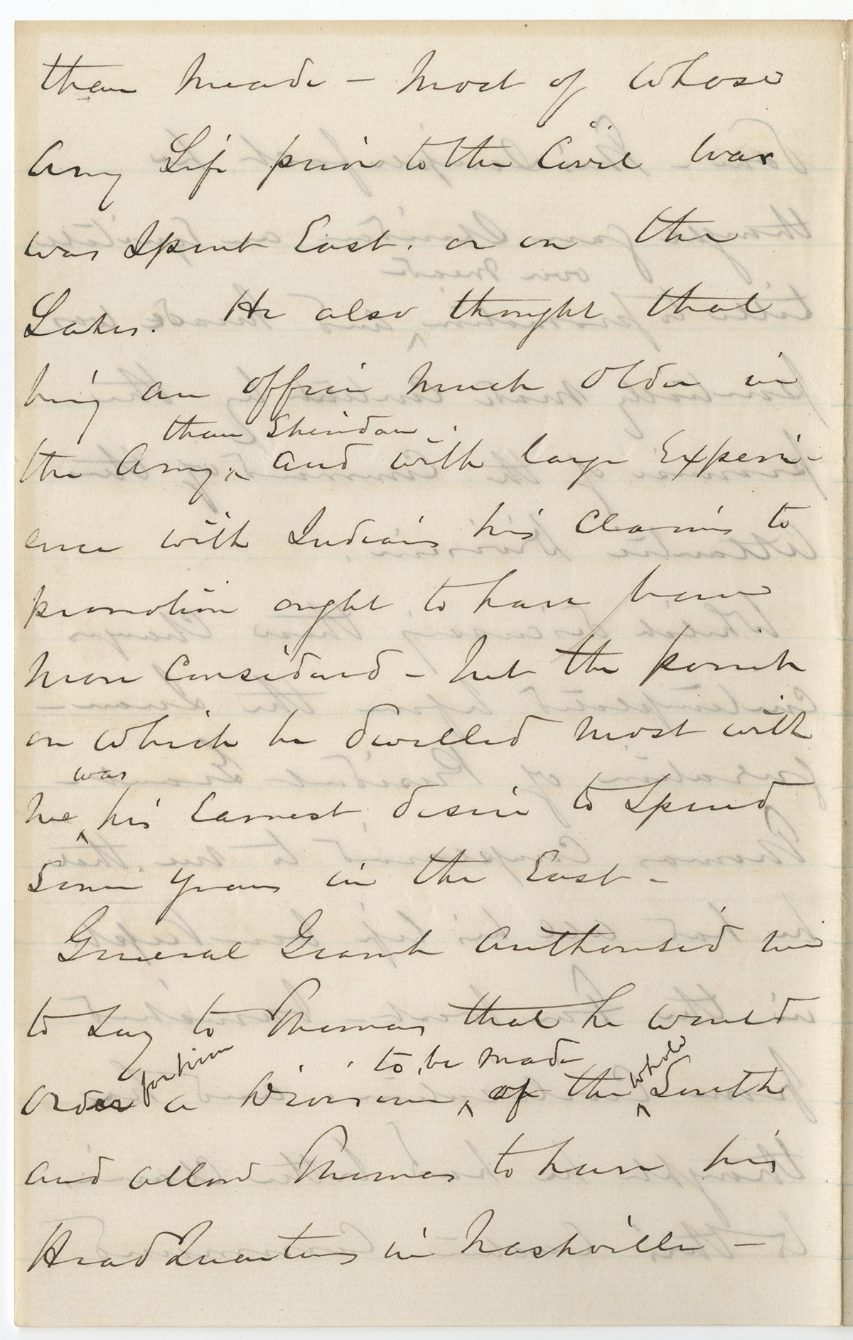 sherman letters to the generals General sherman, shown here during the atlanta campaign is infamous for his  tactics during his march to the sea his men looted and destroyed civilian homes .