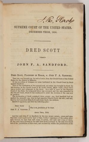 Dred Scott V. Sandford