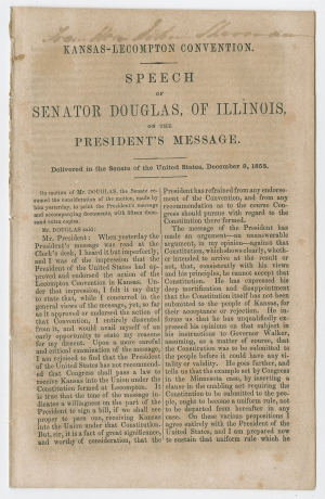 an analysis of the legislative scheme of senator stephen a douglas of illinois Democratic party (united states) the northern democrats nominated senator stephen a douglas of illinois for president and former an analysis of 2008 through.