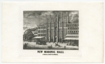 Masonic Hall Litho w