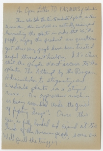 Fascinating 1980s Notes by Eldridge Cleaver, Former Black